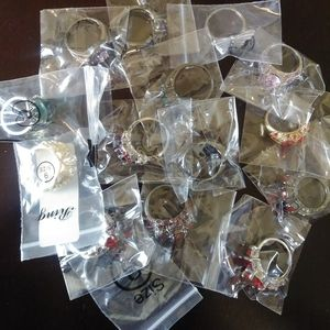 Mystery Box Jewelry Lot Rings Lot of 15